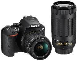 D3500 schwarz mit Objektiv AF-P VR DX 18-55mm und VR DX AF-P 70-300mm (VBA550K005)