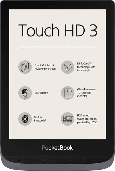 eBook Reader Touch HD 3, metallic grey (PB632JWW)