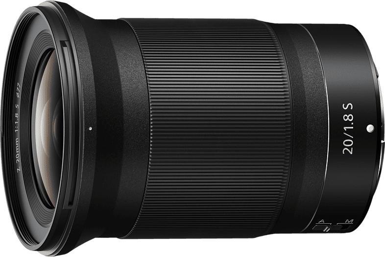 NIKON Nikkor Z 20 mm f./1.8  (Objektiv für Nikon Z-Mount, Schwarz)