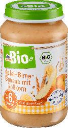 dmBio Apfel-Birne-Banane mit Vollkorn ab dem 6. Monat, Demeter