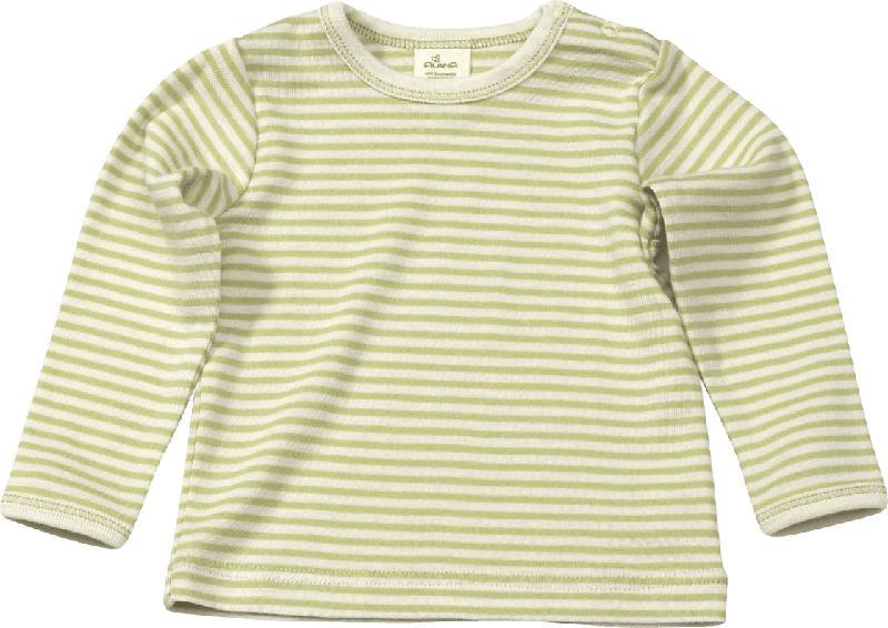 ALANA Baby Pullover, Gr. 68, in Bio-Schurwolle, Bio-Baumwolle und Seide, grün, natur, für Mädchen und Jungen
