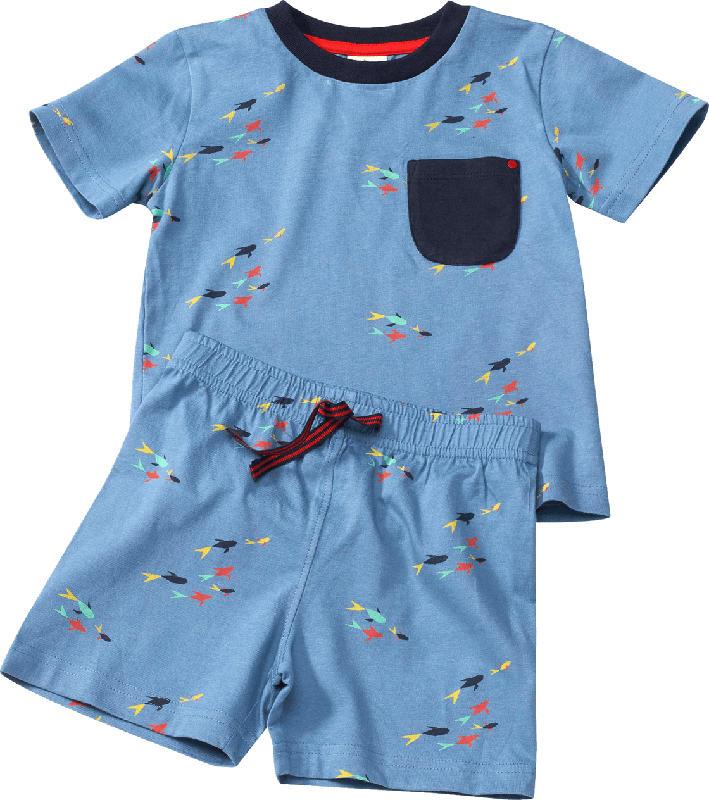 ALANA Set aus Kinder Shirt und Shorts, Gr. 104, in Bio-Baumwolle, blau