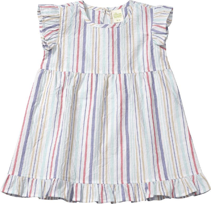 ALANA Kinder Kleid, Gr. 98, in Bio-Baumwolle, weiß, bunt