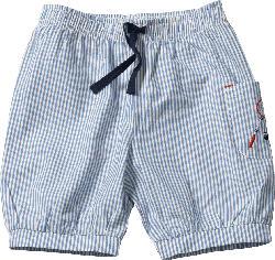 ALANA Kinder Shorts, Gr. 98, in Bio-Baumwolle, blau, weiß
