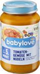 dm-drogerie markt babylove Babymenü Tomatengemüse mit Nudeln ab dem 5. Monat