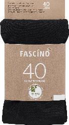 FASCÍNO Strumpfhose 40 den, schwarz, Gr. 38/40