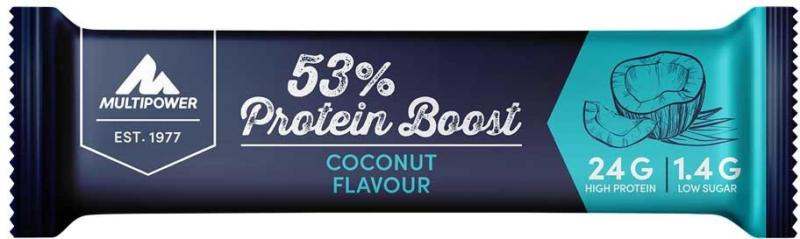 Multipower 53% Protein Boost versch. Sorten, jeder 45-g-Riegel