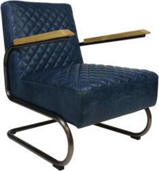 Sessel in Leder Blau