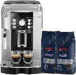 Saturn Kaffeevollautomat ECAM 21.117SB, silber/schwarz + Kimbo Kaffee (Bohne)