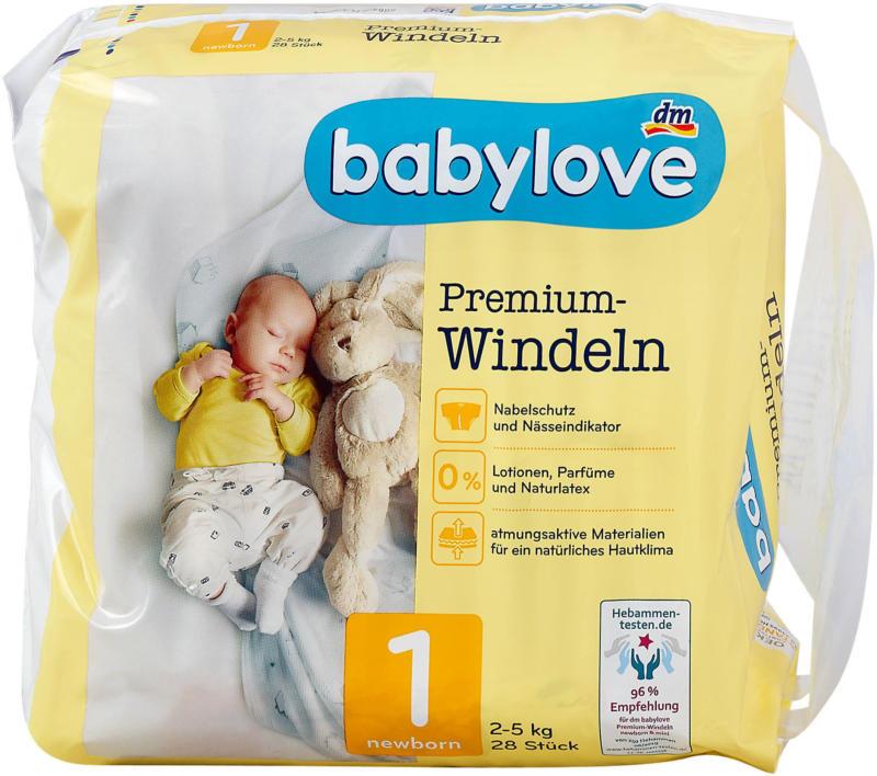 babylove Premium-Windeln Gr. 1 newborn (2-5 kg)