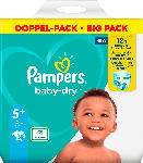 dm-drogerie markt Pampers Windeln Baby Dry, Größe 5+ Junior Plus, 12-17kg, Doppelpack