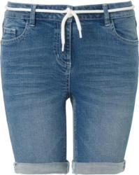 Damen Boyfriend-Jeansshorts mit Bindeband