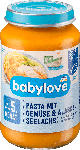 dm-drogerie markt babylove Babymenü Pasta mit Gemüse, & Alaska Seelachs ab dem 5. Monat