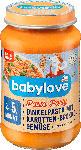 dm-drogerie markt babylove Babymenü Dinkelpasta mit Brokkoligemüse, ab dem 5. Monat