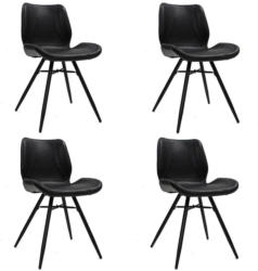 Stuhl-Set Barron 4-Er Set Schwarz