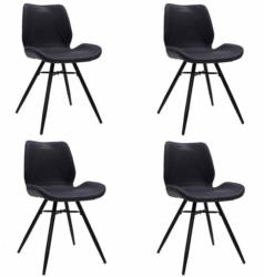 Stuhl-Set Barron 4-Er Set Dunkelblau