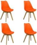 Möbelix Stuhl-Set Woody 4-Er Set Orange