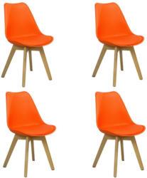 Stuhl-Set Woody 4-Er Set Orange