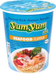 Nudelsuppe mit Meeresfrüchtegeschmack