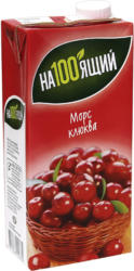 Moosbeere-Fruchtsaftgetränk aus Fruchtsaftkonzentrat