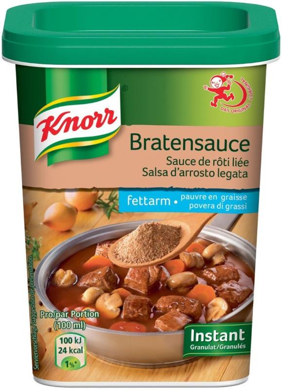 Knorr sauce de rôti liée instant pauvre en graisse 230g -