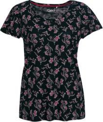 Damen T-Shirt mit floralem Allover-Motiv