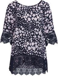 Damen Tunika mit floralem Allover-Motiv