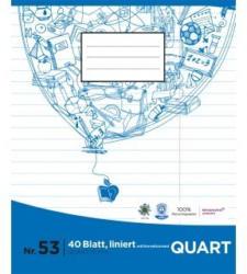 PAGRO Heft Quart 40 Blatt liniert mit Korrekturrand