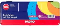 PAGRO Deckfarbkasten 12 Farben