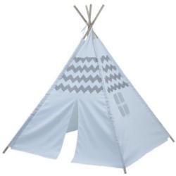 Indianerzelt Tipi 120 x 120 x 150 cm grau/weiß