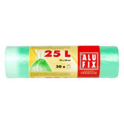 ALUFIX Müllsäcke mit Zugband 25 Liter 30 Stück grün