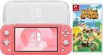 Saturn Switch Lite Koralle + Animal Crossing New Horizons + Switch Lite Tasche & Schutzfolie