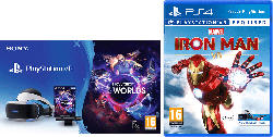 PS4 VR Set: Virtual Reality + Camera + VR Worlds (download Code) + Marvel's Iron Man VR