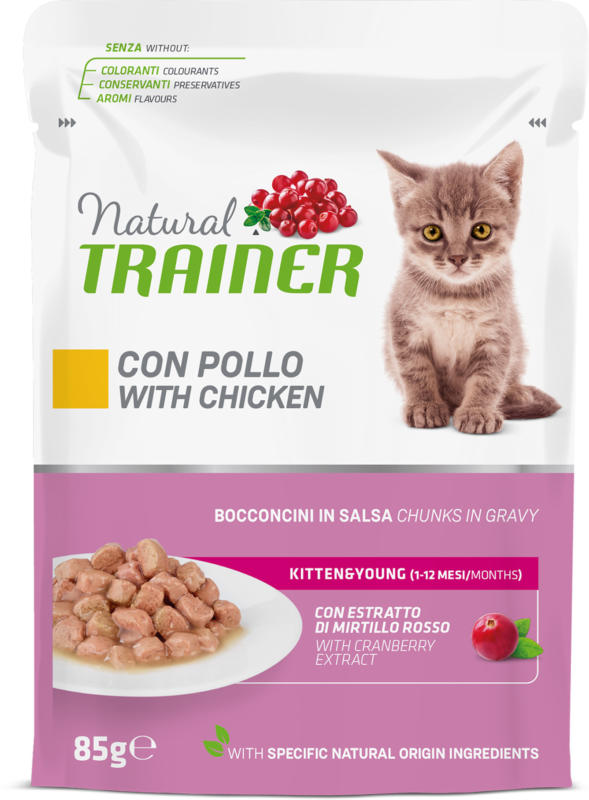 Trainer Feline Natural Kitten Pouch 85g