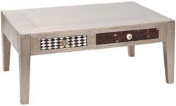 Couchtisch Noida B: 110 cm Silberfarben