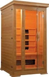Infrarotkabine Punto 60613 für 1 Person mit 4 Keramikstrahlern und einer Leistung von 1350 Watt