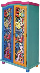 Schrank Genffiti B: 103 cm Multicolor
