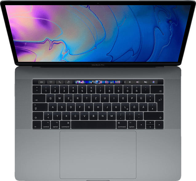 APPLE MacBook Pro MR932D/A-139803 mit britischer Tastatur, Notebook mit 15.4 Zoll Display, Core i7 Prozessor, 16 GB RAM, 256 GB SSD, Radeon™ Pro 560X, Space Grau