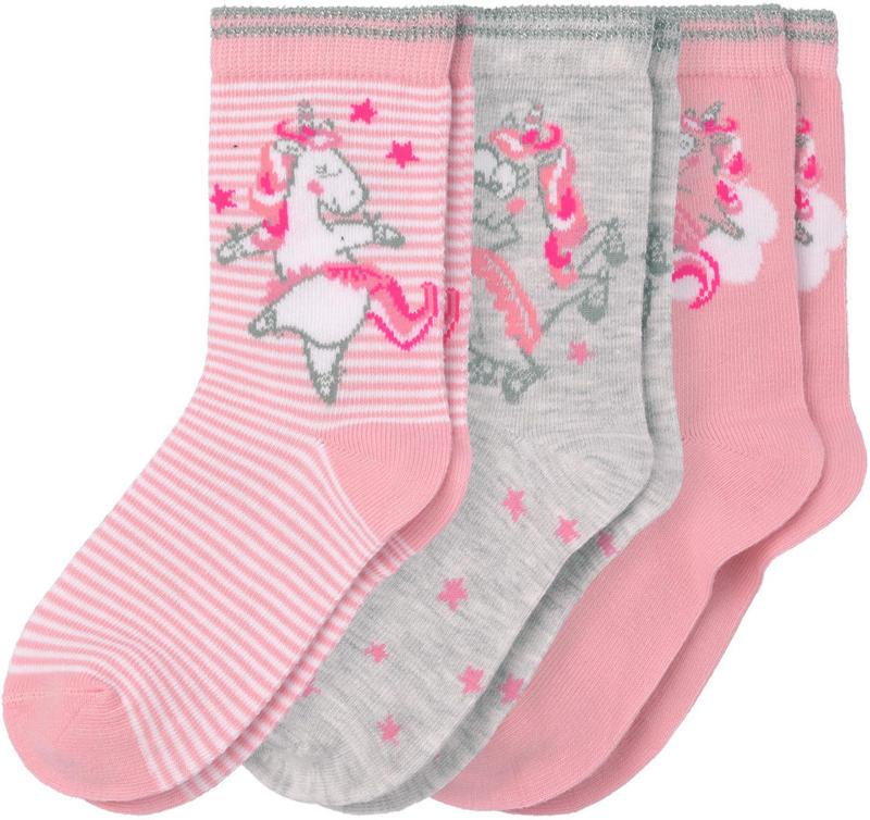 3 Paar Mädchen Socken mit Einhorn-Motiven (Nur online)