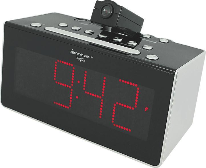 FUR 6005 UKW Funkuhrenradio mit Projektion, Infrarotsensor und Auto-Off Display