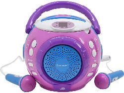 Kinder-CD-Spieler KCD1600PI, Sing-a-long Funktion, 2 Mikrofone