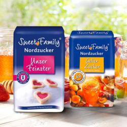 Sweet Family Feinster Zucker und Gelierzucker 3 : 1 jede 500-g/1000-g-Packung