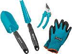 MediaMarkt Grundausstattung Kleingeräte mit Handschuhen, Gartenschere, Unkrautstecher und Blumenkelle