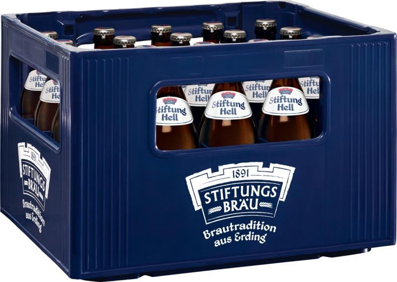 Stiftungsbräu Erding, Hell, 5,1% vol. / Kiste