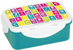 Jausenbox Anlauttabelle 16 x 10,5 x 6,5 cm bunt