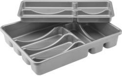 Besteckeinsatz Amalie aus Kunststoff in Grau