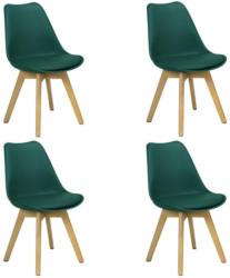 Stuhl-Set Woody 4-Er Set Dunkelgrün