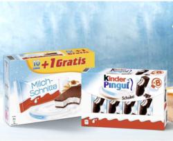 Milchschnitte 10 + 1 x 28 g = 308 g oder kinder Pingui 8 x 30 = 240 g jede Packung