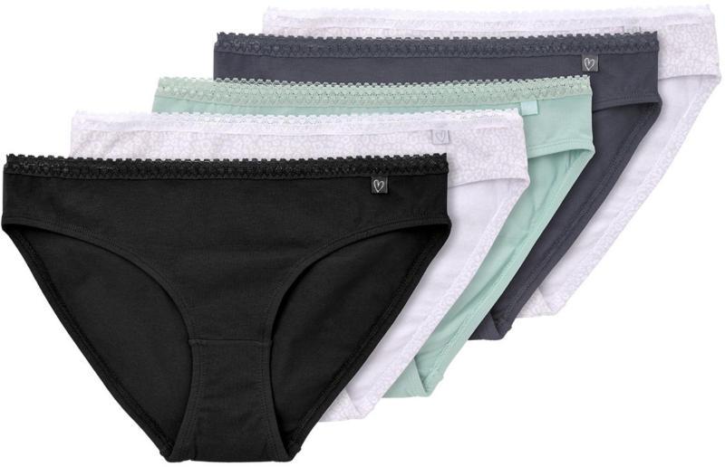 5 Damen Slips aus Baumwoll-Mix (Nur online)