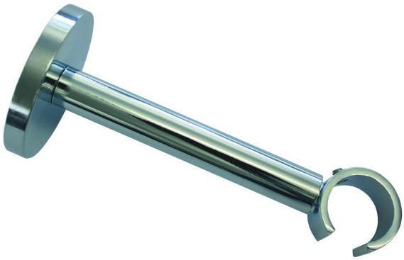 Träger Ø 20, Metall, 1lfg., offen, ca. 10 - 14 cm, chrom